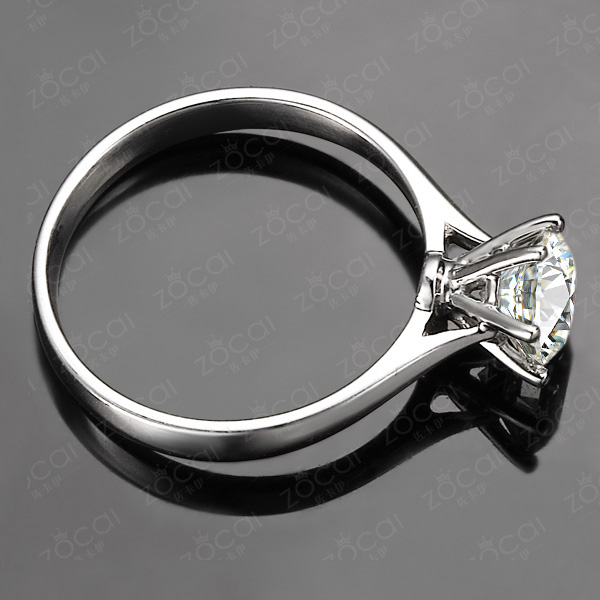 【挚爱】 白18k金0.3克拉钻石戒指