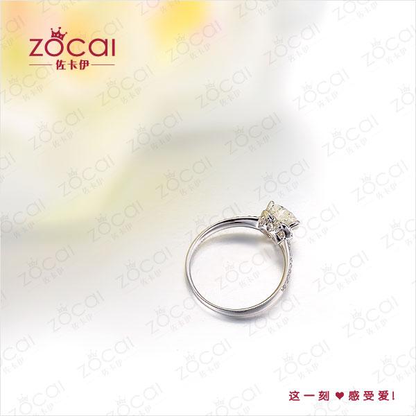 金100分 1克拉钻石女士戒指多少钱 图片 款式 形状 心形,颜色 F G,