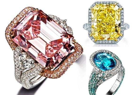 彩宝与铂金的完美搭配二