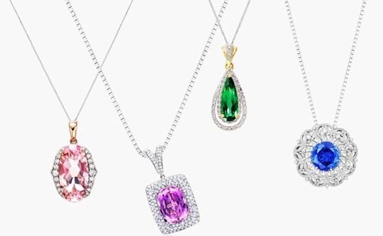 彩宝与铂金的完美搭配五