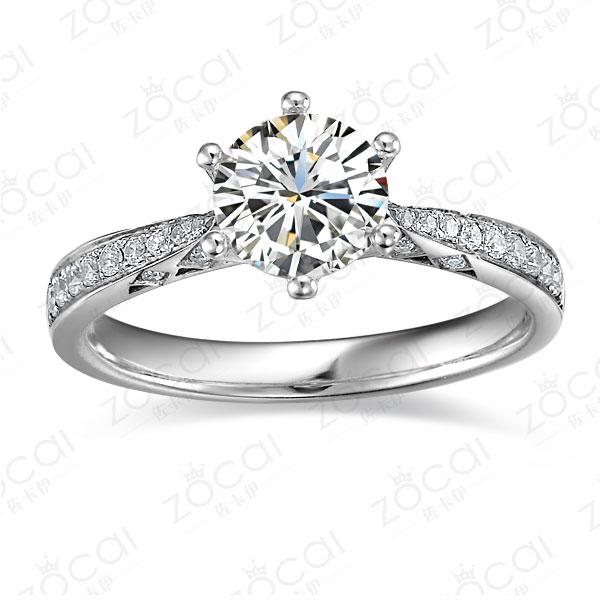 》》点击进入【注定的爱】 白18k金50分/0.5克拉钻石戒指