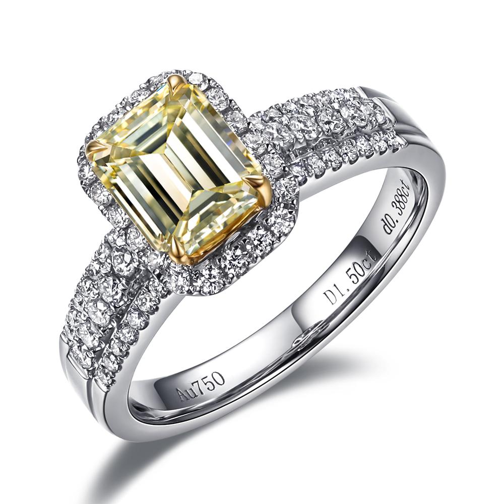 》》点击进入【朝霞】 白18k金100分/1克拉钻石戒指