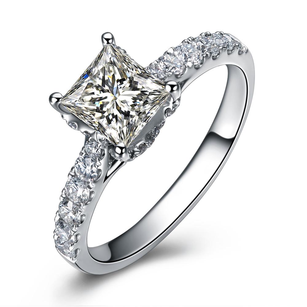 》》点击进入【完美守护】 白18k金100分/1克拉钻石戒指