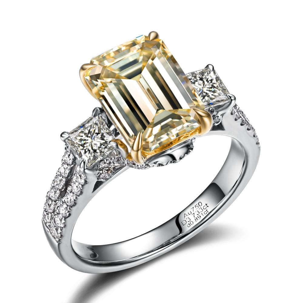 》》点击进入【璀璨星光】 白18k金100分/1克拉钻石戒指