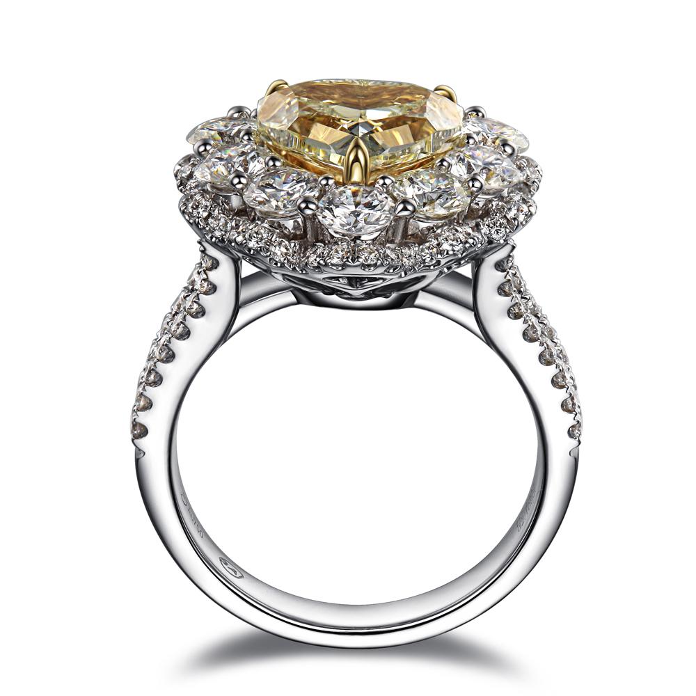 【凯利皇妃】 白18k金100分/1克拉钻石戒指