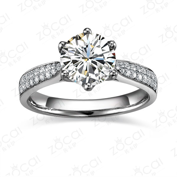 》》点击进入【风华绝代】 PT950 200分/2克拉钻石戒指
