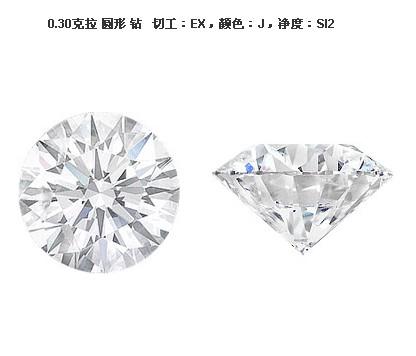 佐卡伊0.3克拉圆形 钻石