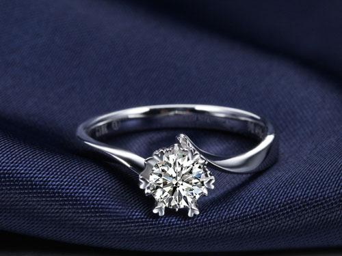 【缘来是你】 白18K金30分/0.30克拉钻石女士戒指
