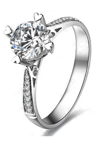 【情定威尼斯】 白18K金钻石戒指