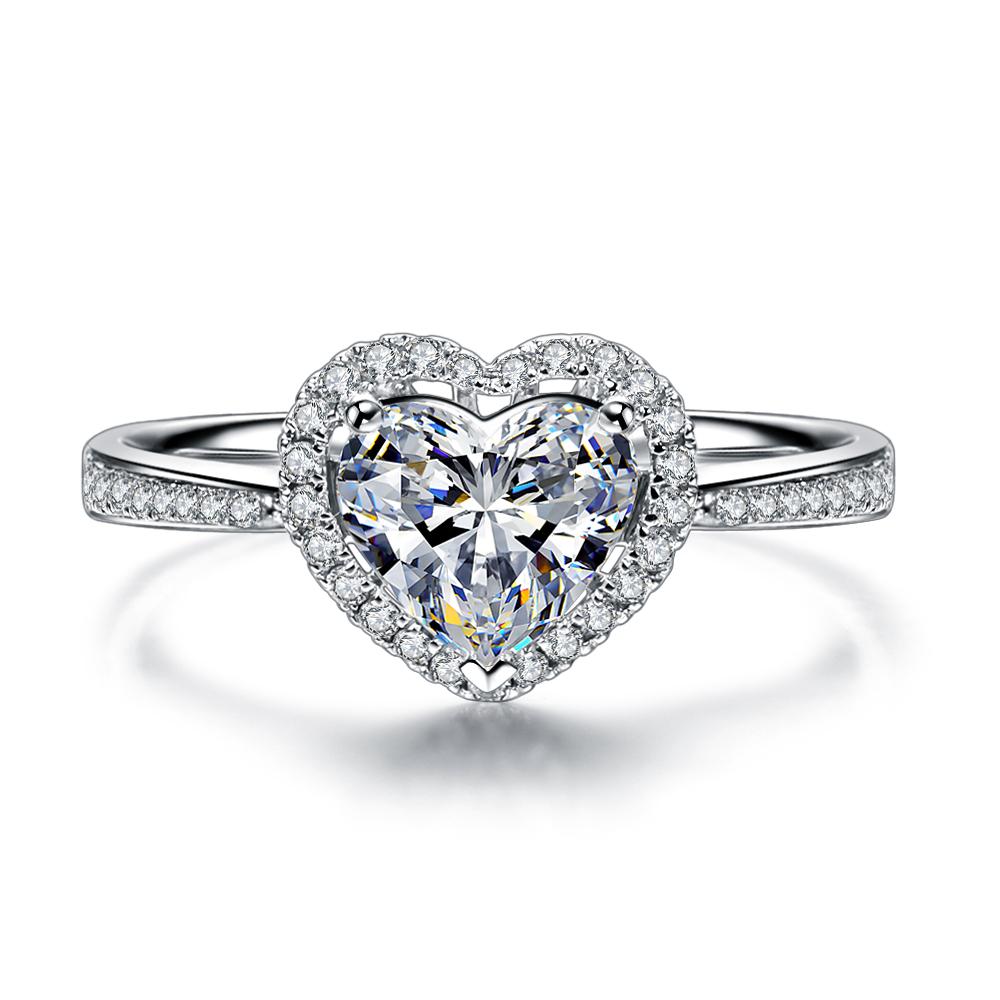 》》点击进入【浪漫的心】 白18k金30分/0.3克拉钻石戒指