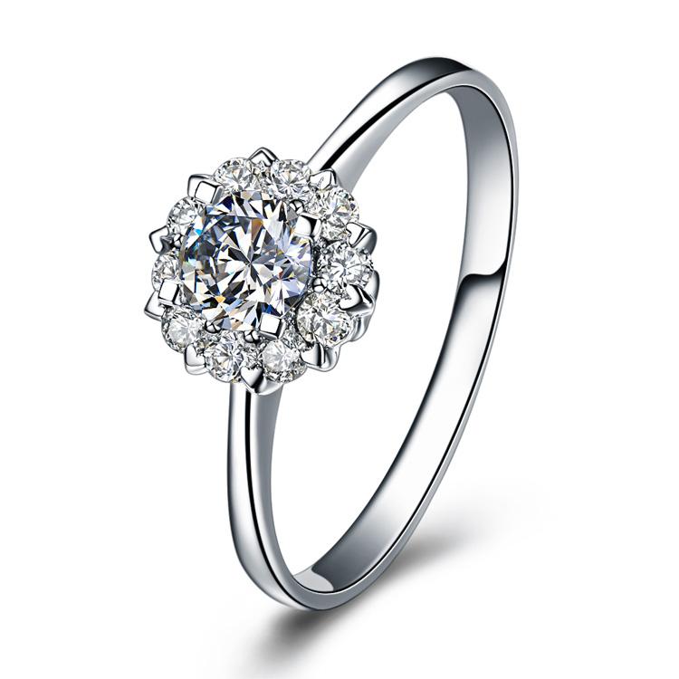 》》点击进入【触电】 白18k金8分/0.08克拉钻石戒指