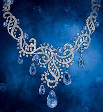卡地亚Cartier高级古董珠宝系列蓝宝石钻石项链