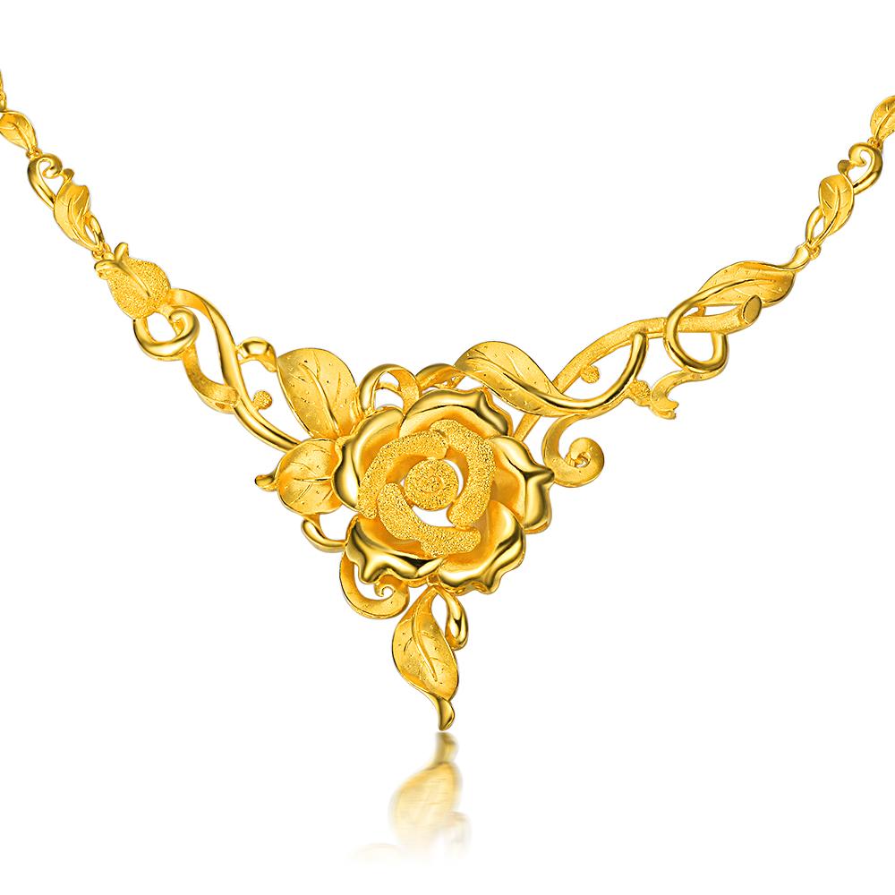 》》点击进入【富贵牡丹】 千足金/黄金项链 婚嫁黄金套件结婚套装