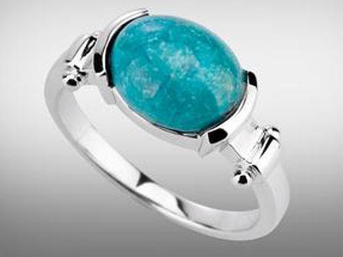 关于绿松石戒指佩戴