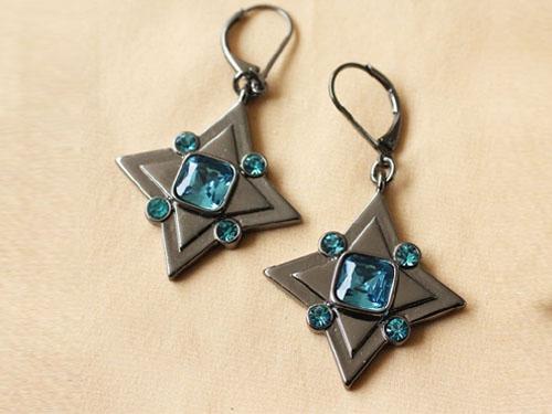 蓝水晶耳环哪个品牌好