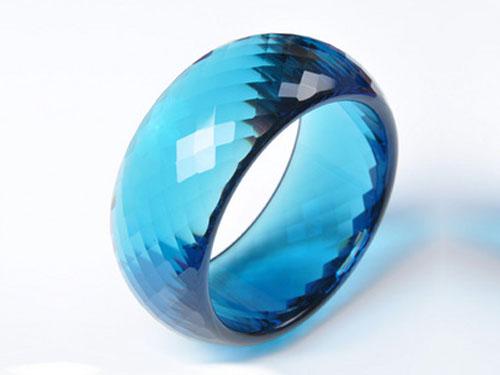蓝水晶手镯