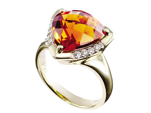 黄水晶戒指款式图片_价格多少钱_鉴赏