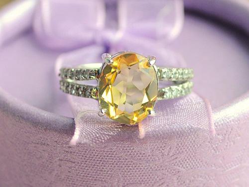 黄水晶戒指选购方法