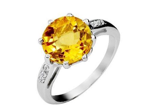 黄水晶戒指佩戴