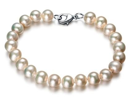 【简爱】 精钢天然珍珠女士手链