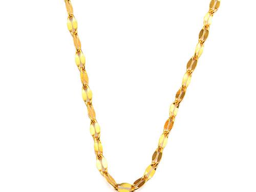 周六福黄金项链-双排复扣