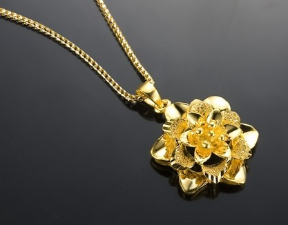 【花之芳香】 足金/黄金女士吊坠