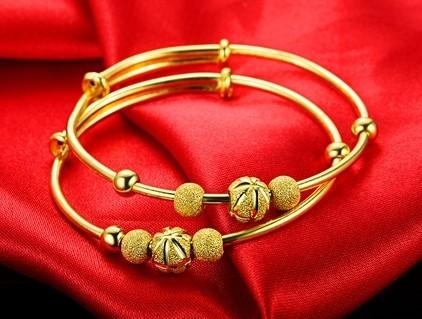 【奢华之皇】 天然南洋金珠珍珠18K黄金女款镶钻手镯