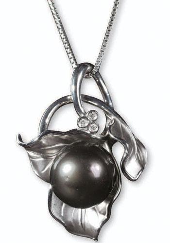 黑珍珠项链搭配