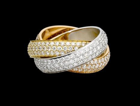 卡地亚三色金戒指怎么样