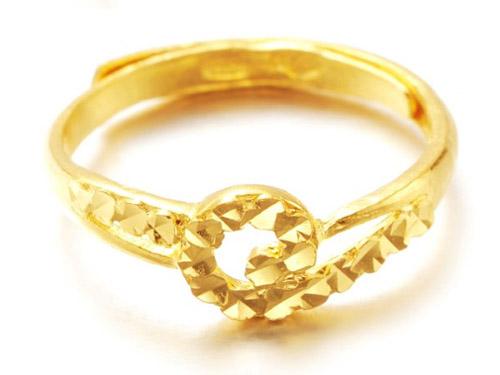 周六福黄金戒指-指环戒指