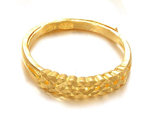 周六福黄金戒指-定情信物