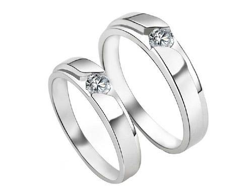 艾念银饰戒指-情侣戒指