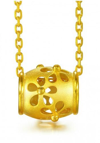 周生生黄金吊坠-转运珠蜜糖罐