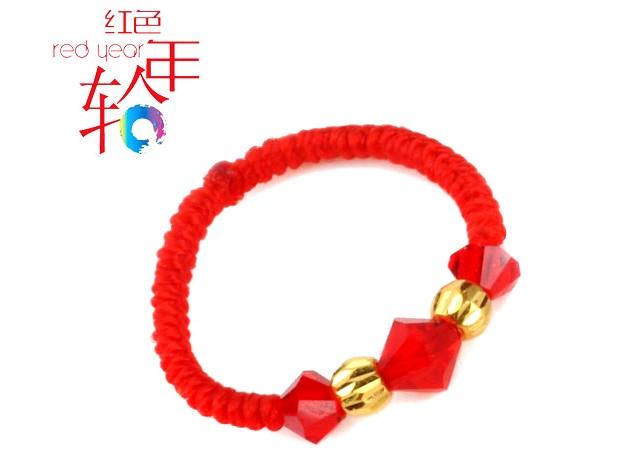 红色年轮手链