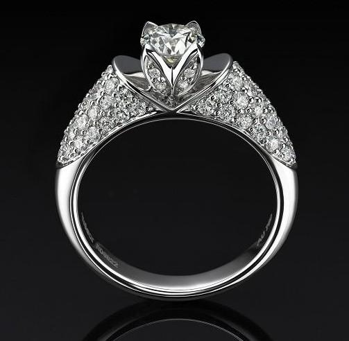 越王珠宝1克拉钻戒多少钱