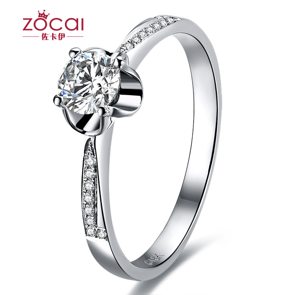 》》点击进入【爱之承诺】 白18K金40分/0.4克拉钻石女士戒指