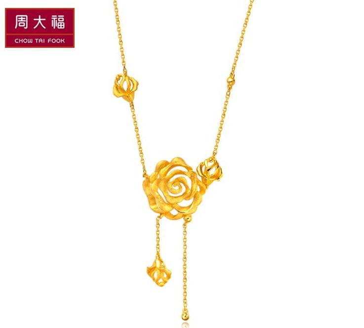 周大福花月佳期系列黄金项链(工费:168 计价)F 148510