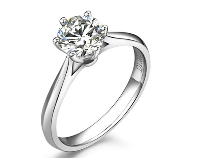【挚爱】 18K白金40分/0.4克拉钻石女士戒指