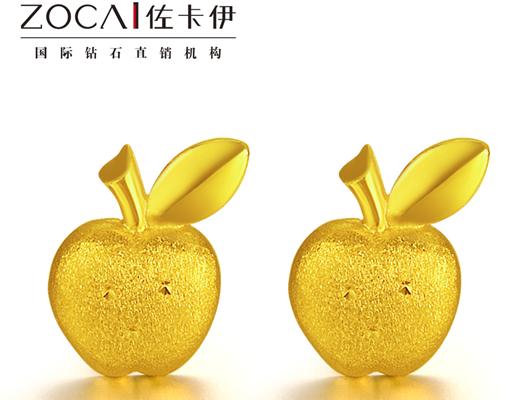 【平平安安 】 足金/黄金女士耳钉