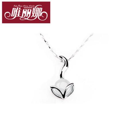 唯丽娜猫眼石925纯银饰项链女短款锁骨链韩国吊坠首饰品生日礼物