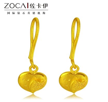 【美丽心灵】 足金/黄金女士耳环