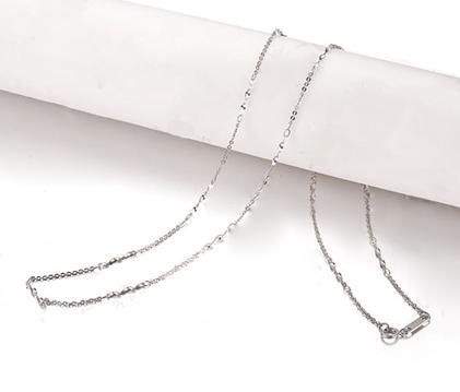 【花蕊】 白18K金女士项链