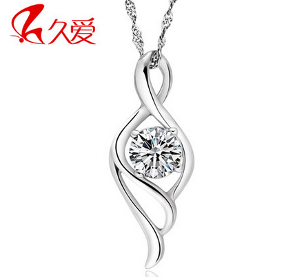 包邮纯银情侣项链男女韩版创意 戒指吊坠一对可刻字免费 生日礼物