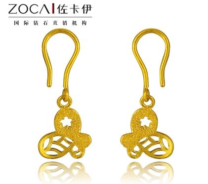 【蝶舞】 足金/黄金女士耳环