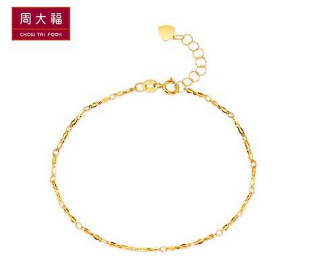 【新品】周大福简约时尚10K金手链CG 24