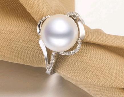 京润珍珠戒指