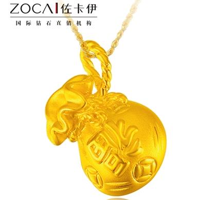【钱多多】 3D足金/黄金女士吊坠