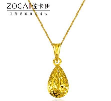 【爱情水滴】 足金/黄金女士吊坠