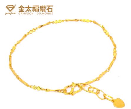 金太福999千足金手链官网价格款式图片