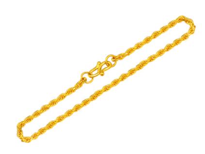 我爱金钻999千足金手链官网价格款式图片-我爱金钻黄金手链怎么样好